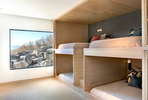 Interior lower level bunk bed room