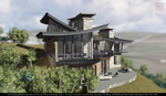 Exterior rendering of backside of property