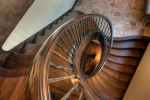 Aerial view of winding staircase
