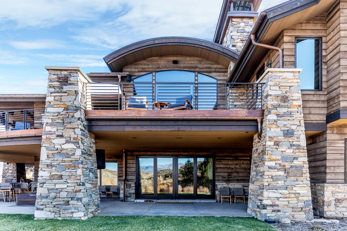 Exterior low angle backyard view