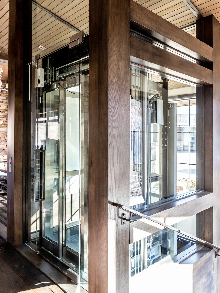 Interior view of elevator