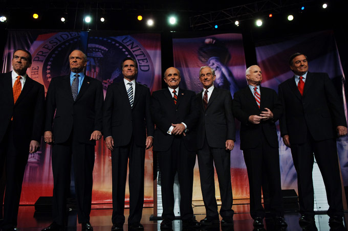 Huckabee, Thompson, Romney, Giullani, Paul, McCain and Hunter