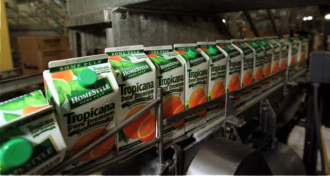 TROPICANA PRODUCTION LINE