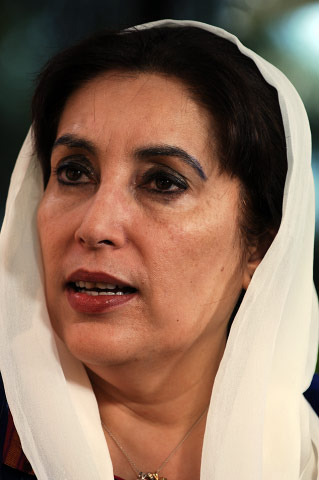 BENAZIR BHUTTO, former prime minister, Pakistan