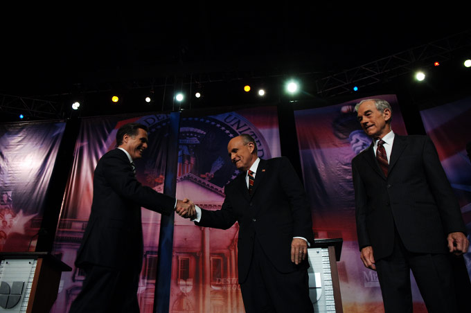 Romney, Giullani and Paul