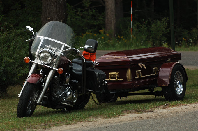 BIKE AND COFFIN, MI