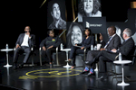 "CHICAGO, IL - OCTOBER 16: Envestnet presents, ""Rethinking Urban Development: A Look at the Obama Presidential Center"" with panelists, Torrey Barrett, Naomi Davis, Natalie Moore, Ghian Foreman, and David Doig.  (Photo by Beth Rooney/Chicago Ideas Week)"