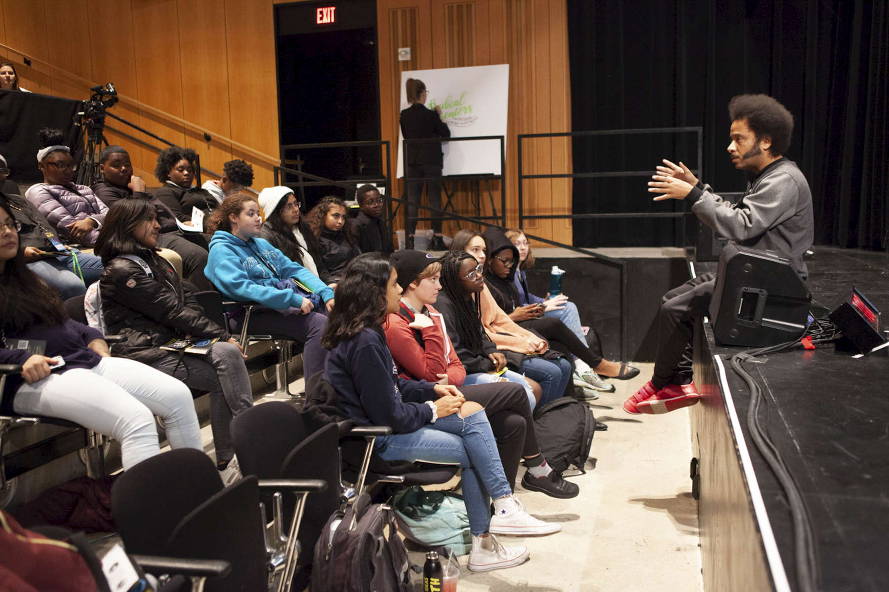 Throughout the week high school groups attended different panels and had the chance to speak with panelists.