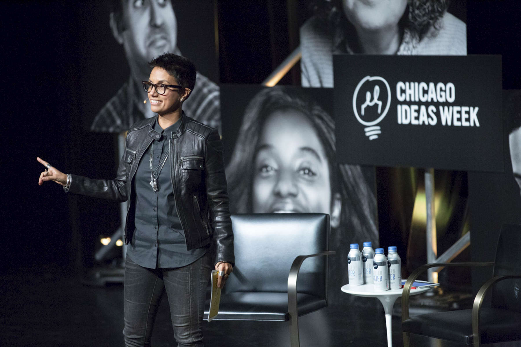"CHICAGO, IL - OCTOBER 17: Fawzia Mirza, Actor & Writer, speaks during ""Radical Creators: The Cultural Leaders Defining the Zeitgeist"" at the Edlis Neeson Theater. (Photo by Beth Rooney/Chicago Ideas Week)"
