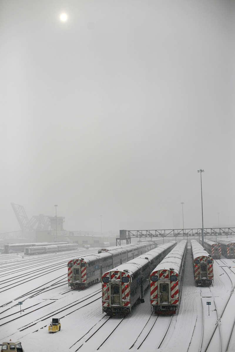Metra train yard