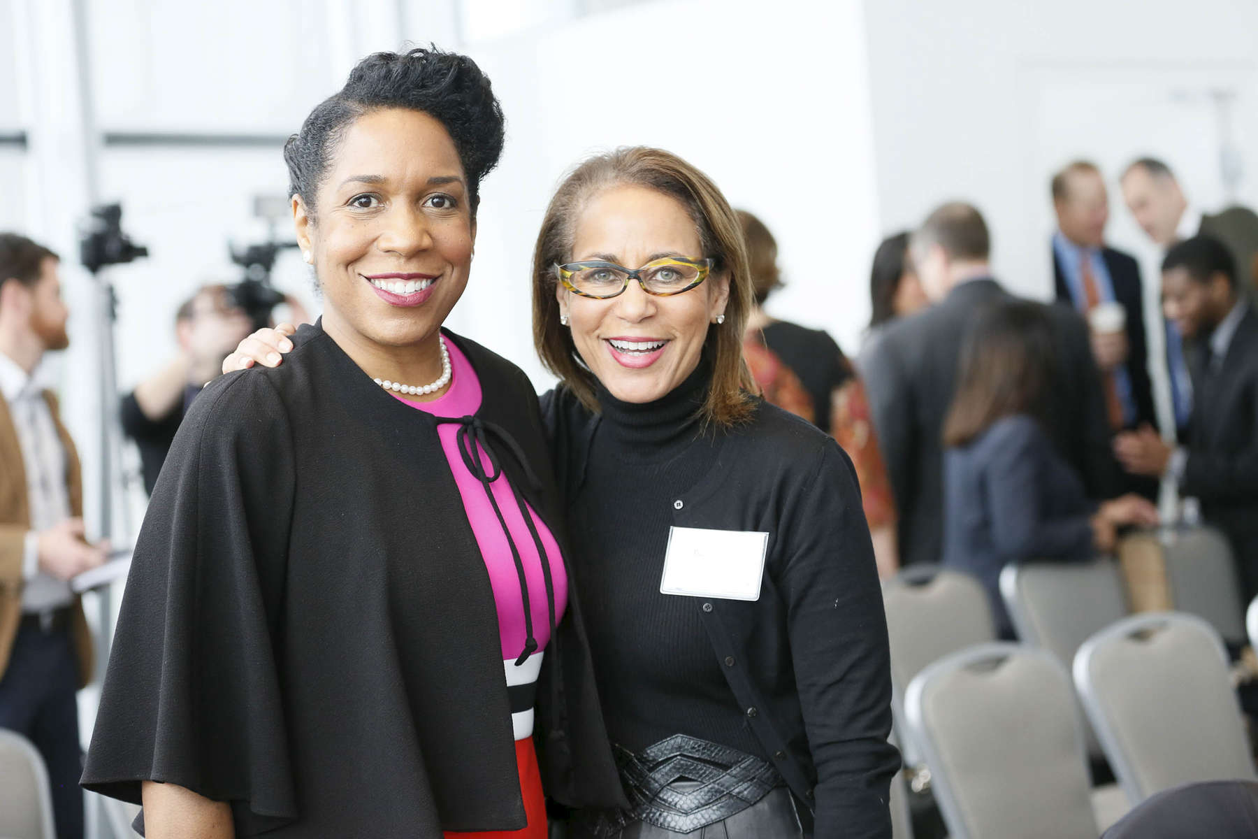 Lt. Governor Juliana Stratton poses for photos at the SMASH Illinois launch in Chicago, Illinois on January 24, 2019.