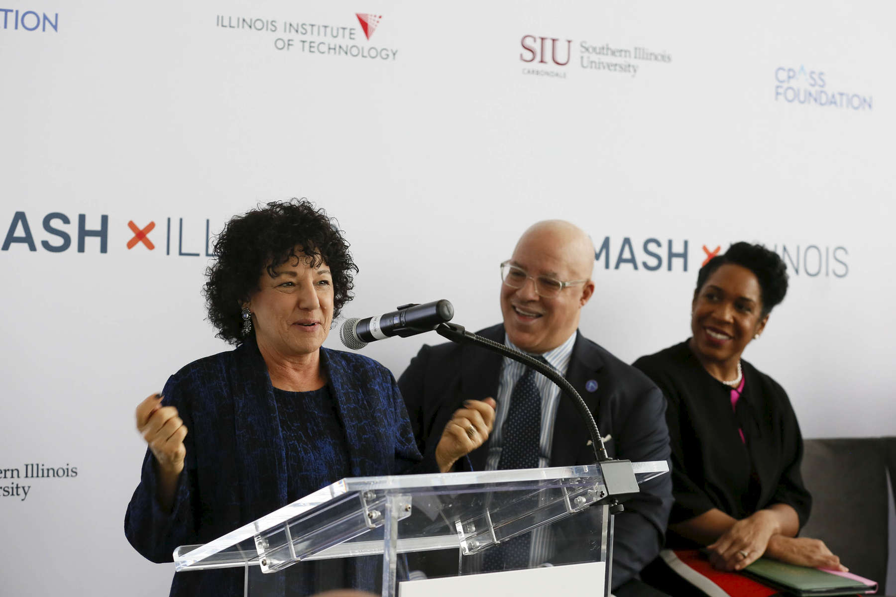 Dr. Freada Kapor Klein, Founder of SMASH, Partner at Kapor Capital, speaks at the SMASH Illinois launch in Chicago, Illinois on January 24, 2019.
