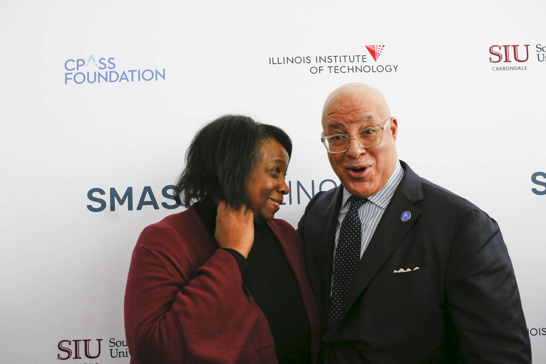 Drs. Whitaker, at the SMASH Illinois launch in Chicago, Illinois on January 24, 2019.