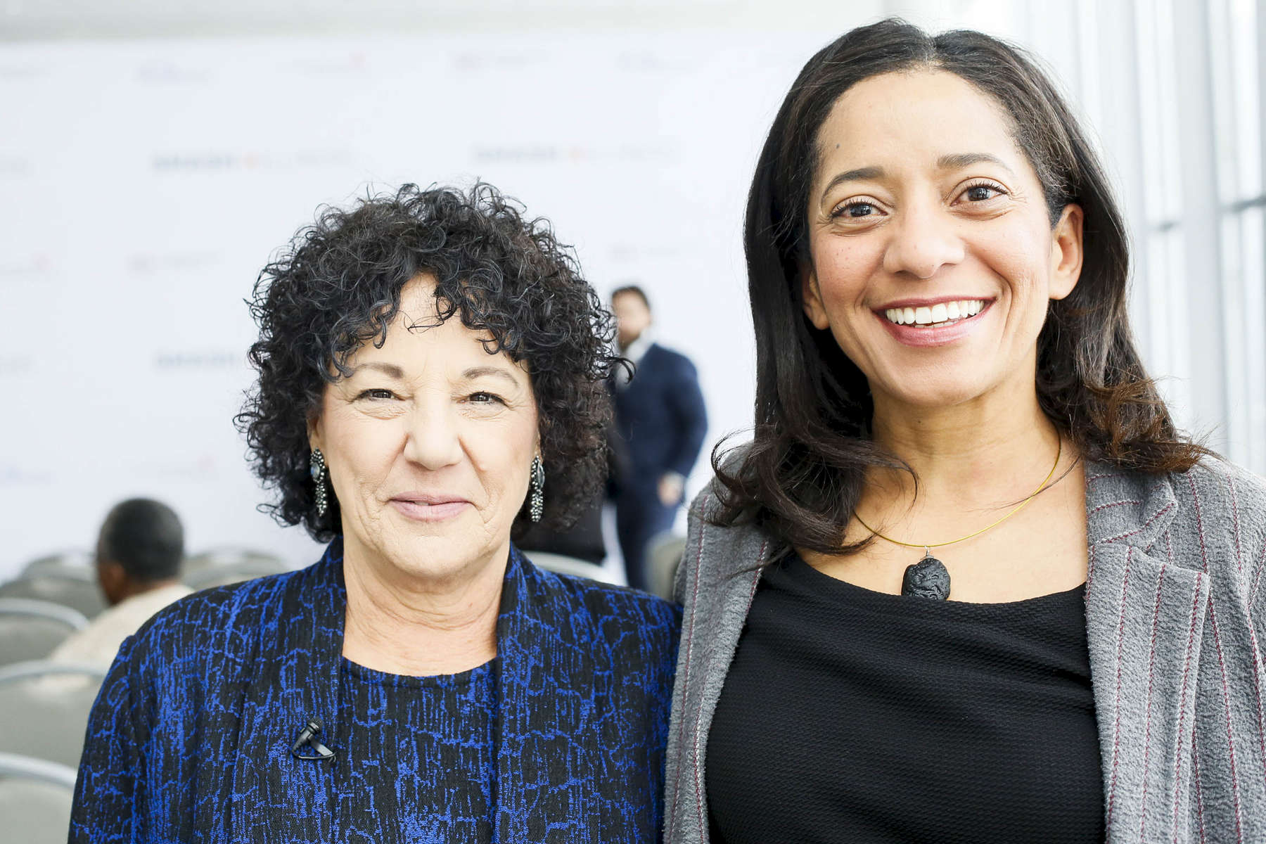 Dr. Freada Kapor Klein, Founder of SMASH, Partner at Kapor Capital, (left) poses for photos at the SMASH Illinois launch in Chicago, Illinois on January 24, 2019.
