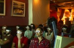 Members of an audience at Casa Cantina watch a 3-D movie during a special Casa Collections event on April 20, 2004. The night was a celebration of the {quote}holiday{quote} 4.20, which celebrates various ways of smoking marijuana and the experience of being high.