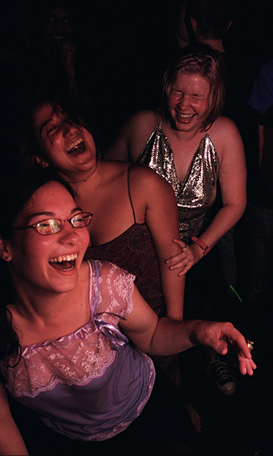 Liz Kozup, Monica Gulley, and Katey Foley dance at Dance or Die on May 6, 2004. {quote}I think that style is sort of how you see yourself in relation to those around you,{quote}  says Kozup. {quote}Most people you see if they are together a lot they start to dress similar and enjoy similar things.{quote}