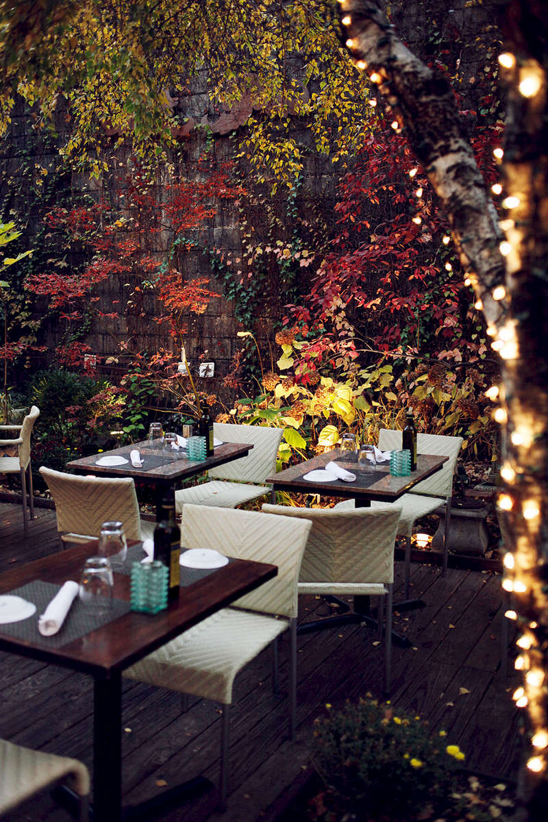 Patio at Piccolo Sogno.