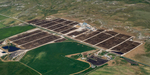 Aerial view of the Dinklage Feed Yards at the Sidney, Nebraska facility.