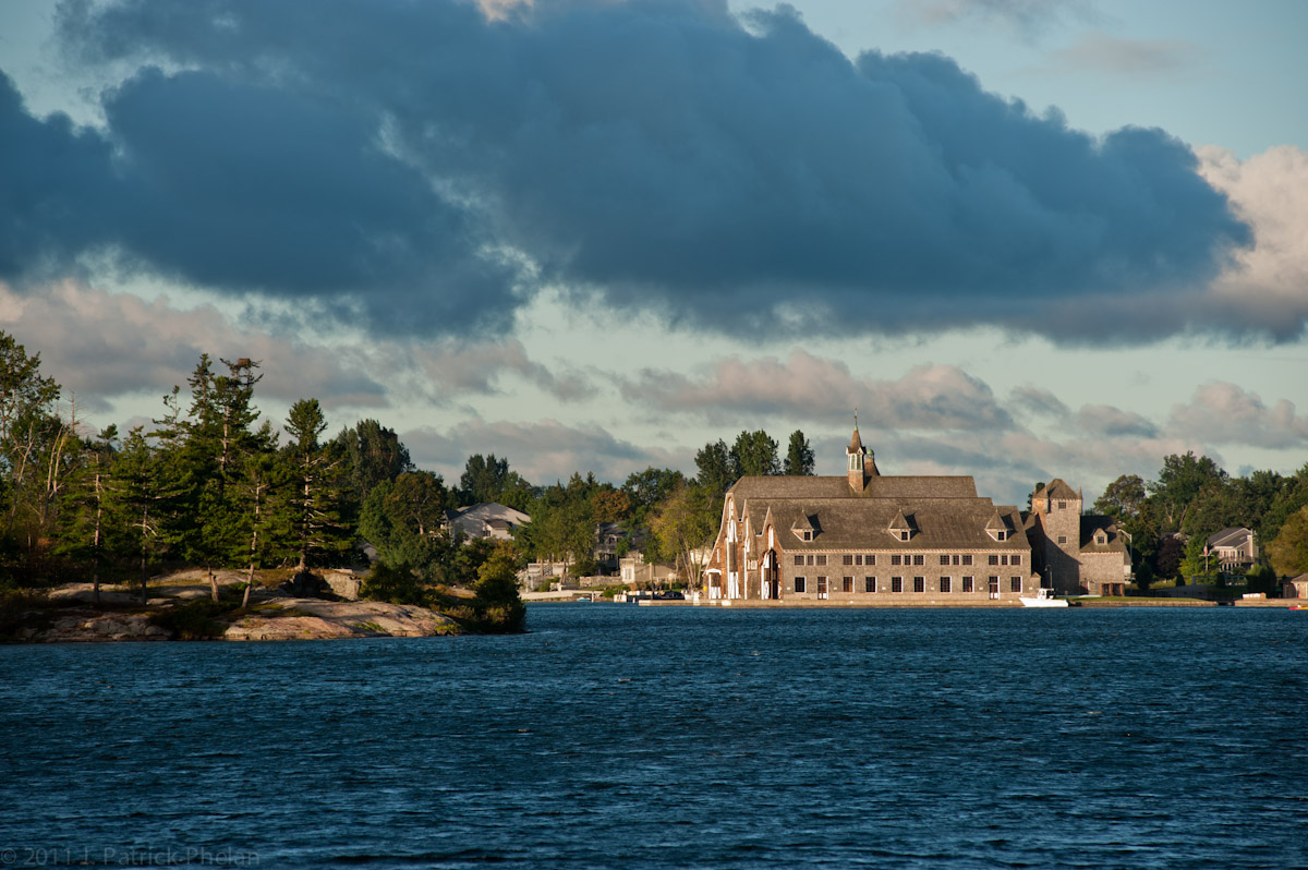 The Boldt Castle Yacht House on Wellesley Island in the 1000 Islands. Construction of the yacht house began in 1899.