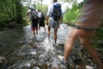 Streams are but just one of the many terrains campers must traverse during Steens Mountain Running Camp's 'Big Day'.