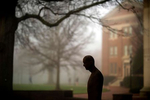 Foggy morning on campus