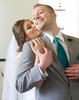 Ben and Alissa hug as they see each other for the first time. Wedding pictures by Tiffany & Steve of Warmowski Photography.