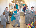 . . .  Which downstairs results in best man and brother Sam exclaiming he won 50 bucks for predicting tears. Wedding pictures by Tiffany & Steve of Warmowski Photography.