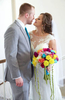 Taking advantage of the beautiful available light in the balcony at Annie Merner Chapel. Wedding pictures by Tiffany & Steve of Warmowski Photography.