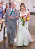 John and Alissa come down the aisle. Wedding pictures by Tiffany & Steve of Warmowski Photography.