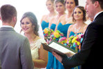 Alissa and Ben take their wedding vows. Wedding pictures by Tiffany & Steve of Warmowski Photography.