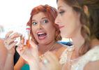Alissa parties with her bridesmaids, party bus. Wedding pictures by Tiffany & Steve of Warmowski Photography.