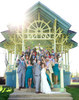 Portraits at Community Park, the recently restored main gazebo. Wedding pictures by Tiffany & Steve of Warmowski Photography.