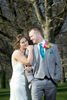 Outdoor portraits in Community Park. Wedding pictures by Tiffany & Steve of Warmowski Photography.