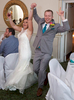 Alissa & Ben introduced at the reception. Wedding pictures by Tiffany & Steve of Warmowski Photography.