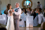 Alissa with her father during first dances. Wedding pictures by Tiffany & Steve of Warmowski Photography.