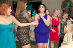 Catching the bouquet, wedding ceremony tradtions. Wedding pictures by Tiffany & Steve of Warmowski Photography.