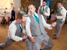 Ben had former band mates as groomsmen and guests. Wedding pictures by Tiffany & Steve of Warmowski Photography.