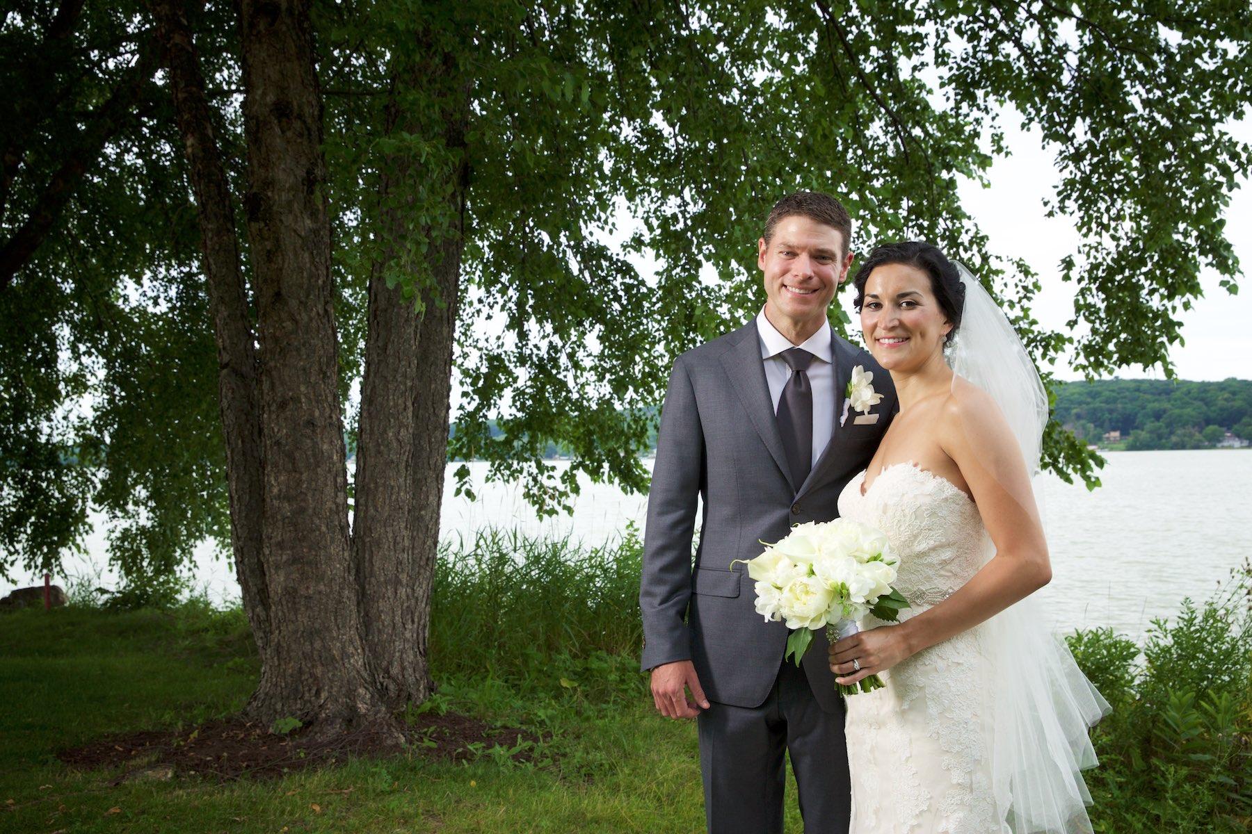 Outdoor portraits, Emi & Daniel's wedding at Geneva National Golf Club in Lake Geneva, Wisconsin. Wedding photography by Steve & Tiffany Warmowski.