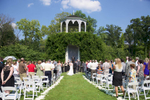 Outdoor wedding ceremony of Jaclyn & Scott, Allerton Park, Monticello. Wedding photography by Tiffany & Steve of Warmowski Photography.