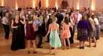 Packed dance floor, wedding reception at iHotel, Champaign. Wedding photography by Tiffany & Steve of Warmowski Photography.