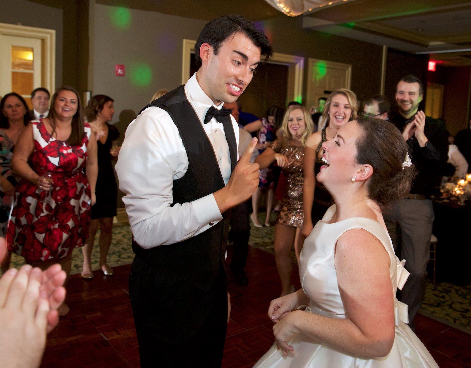 Elizabeth & Daniel dance into the night, wedding reception at Crystal Tree Country Club, Orland Park. Wedding photography by Steve & Tiffany Warmowski