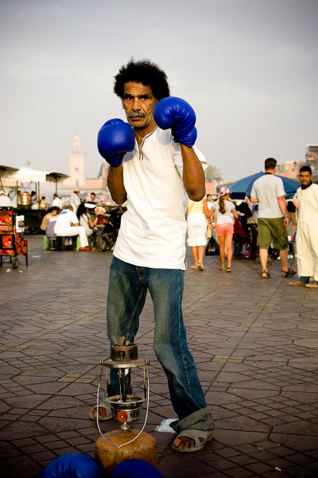 Ibrahim, 52, began boxing in D'jemma Al Fna in 1965 at the age of 9.
