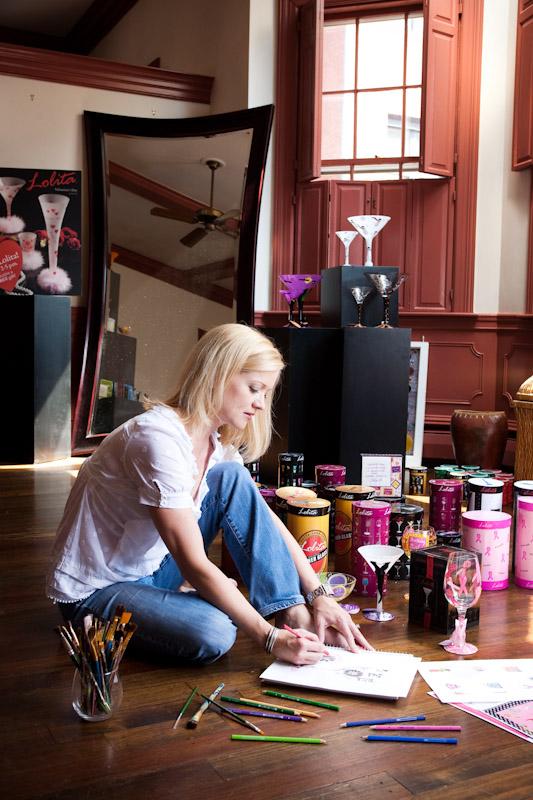 Lolita of Designs by Lolita in her design studio in Massachusetts