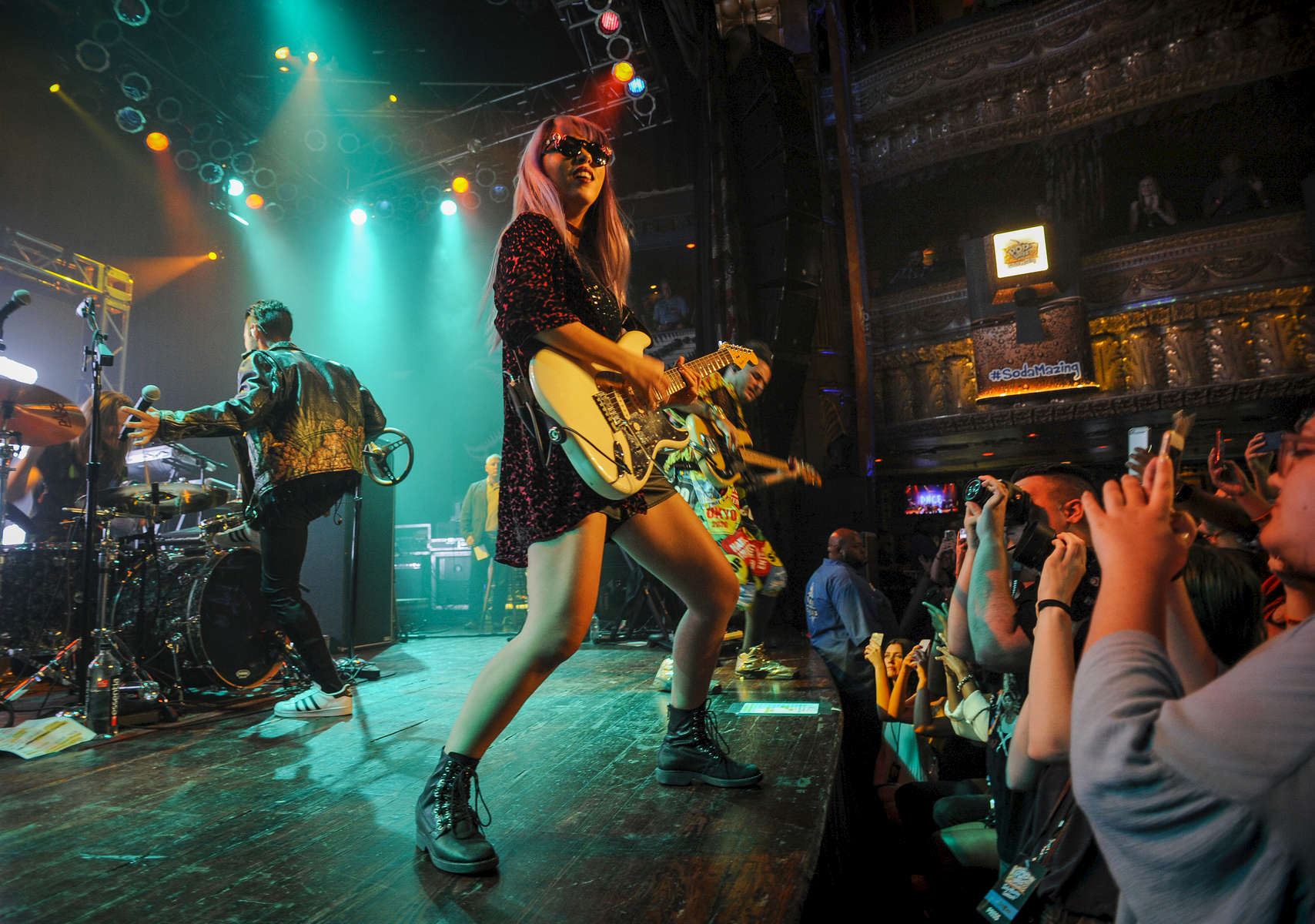 Chicago, IL-DNCE's Joe Jonas, Cole Whittle, JinJoo Lee and Jack Lawless performed their hit single {quote}Cake by the Ocean{quote} at the Pop-Tarts Soda-Mazing Concert at House of Blues Chicago on September 6, 2016. (Photo by Alex Garcia/Invision for Pop-Tarts/AP Images)