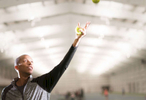 Chicago, Illinois - February 15, 2018: Tennis coach Kamau Murray in between practice sessions at the non-profit XS Tennis Village in Chicago. Murray, who founded XS Tennis and trained tennis star Sloane Stephens, wants to raise up the next generation of tennis players at this facility located on the south side of Chicago. (Alex Garcia for The Undefeated)