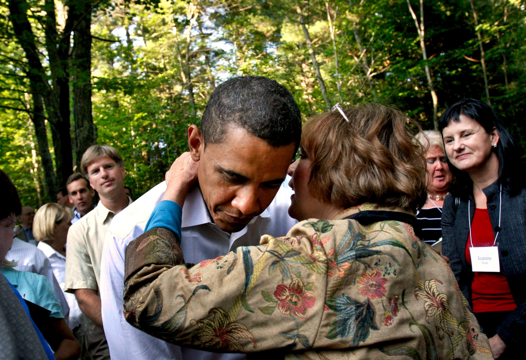 Senator Barack Obama campaigns in Laconia and at Gary and Meg Hirshberg's house party in Concord, New Hampshire on July 2, 2007.