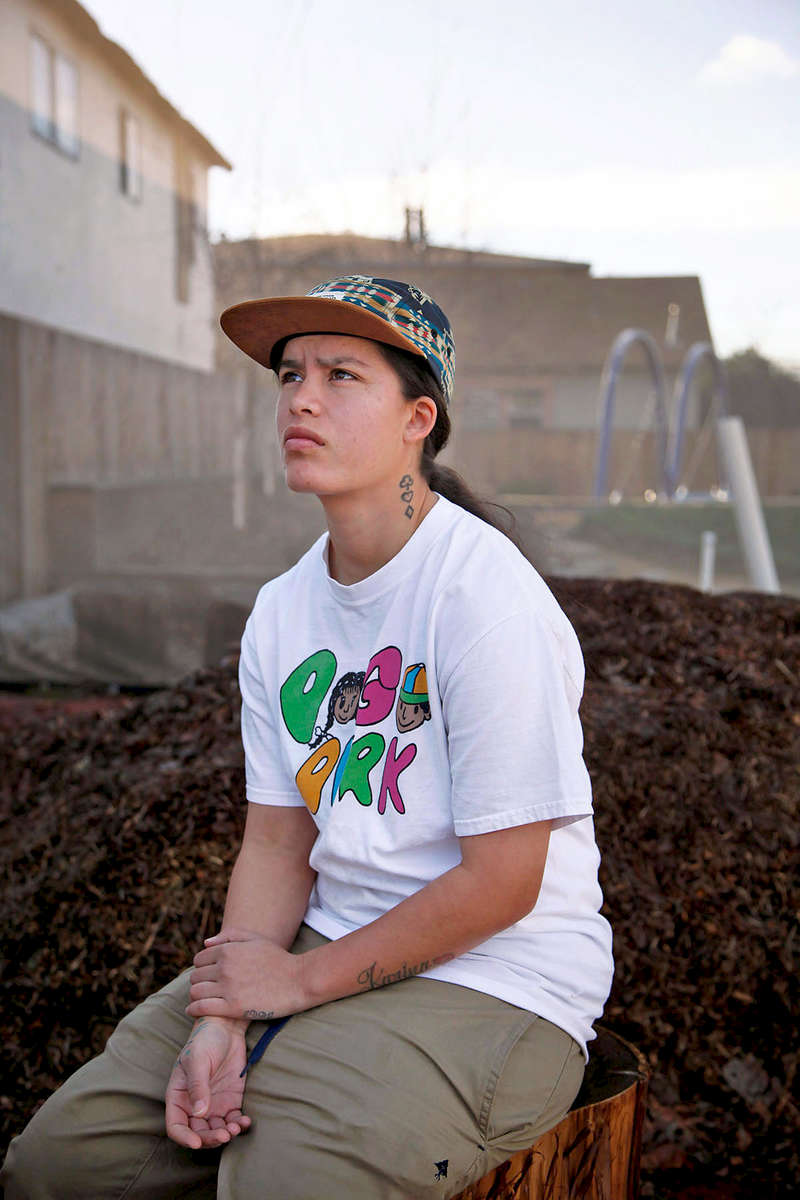 Nancy Ybarra, 26, poses for a photo at Pogo Park in Richmond, Calif., on Friday, January 15, 2016. She grew up in this neighborhood and going to this park where violence and drugs were everywhere.  Her younger sister was shot at age 15 just a block away. Ybarra is now part of a team of locals dedicated to its improvement. It has a different feeling now, she says. Preston Gannaway/for Nature