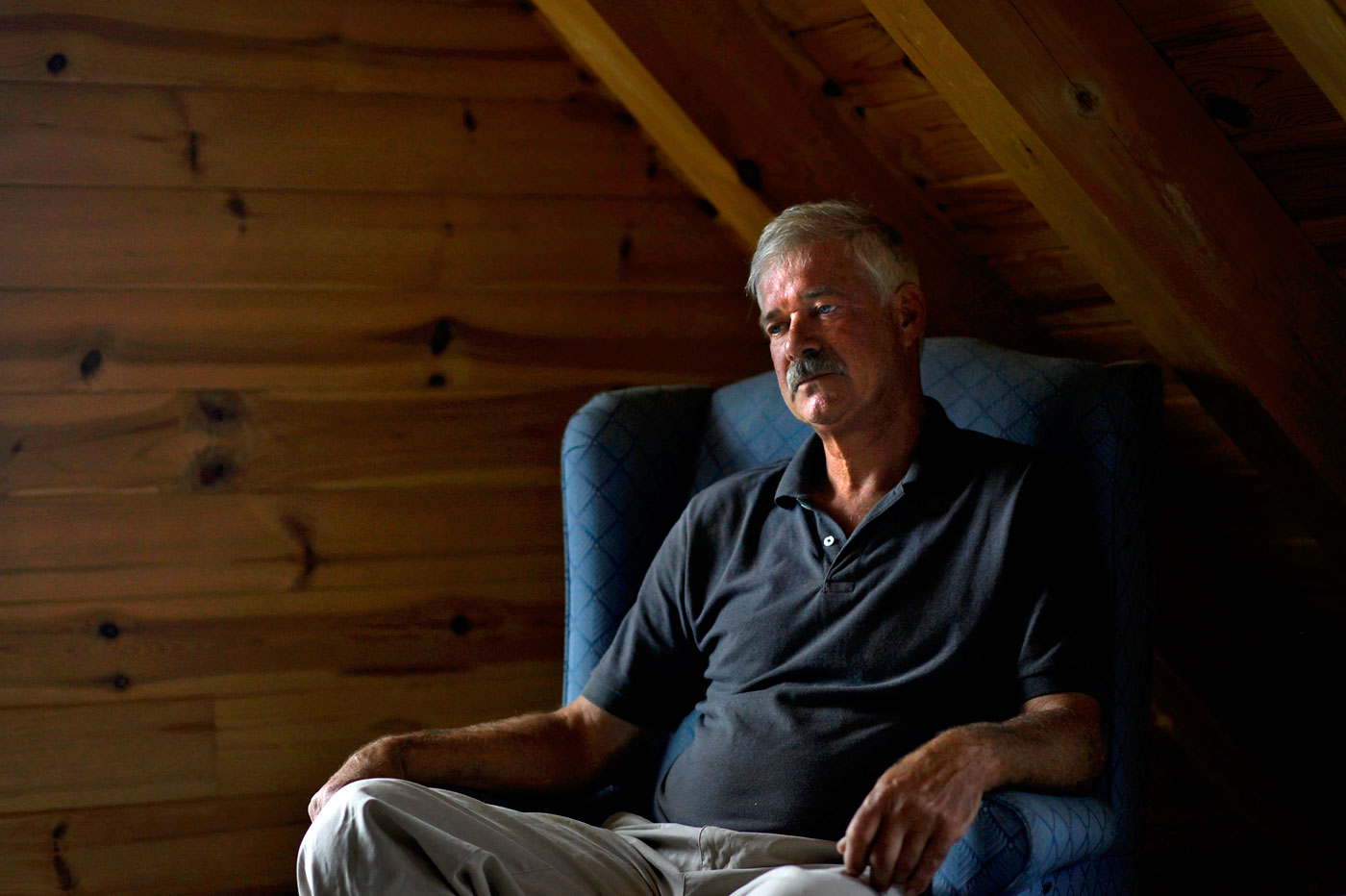 Paul Traub, 55, is going public with allegations that he was sexually abused by Catholic priests as a boy growing up in Virginia Beach. He poses for a portrait at his home in Lovettsville, Va.