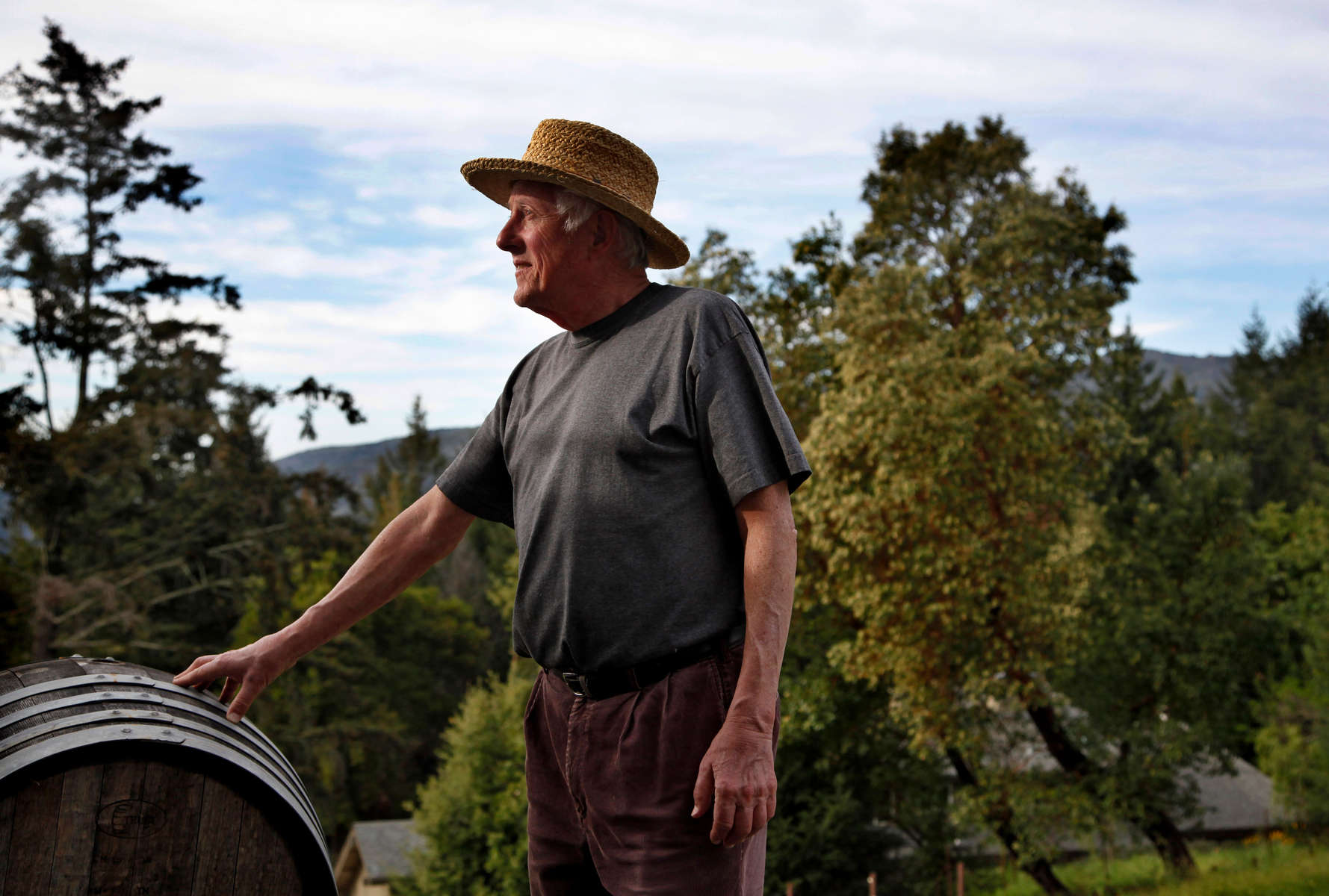 Winemaker Jerold O'Brien, Santa Cruz Mountains, Calif., for the San Francisco Chronicle