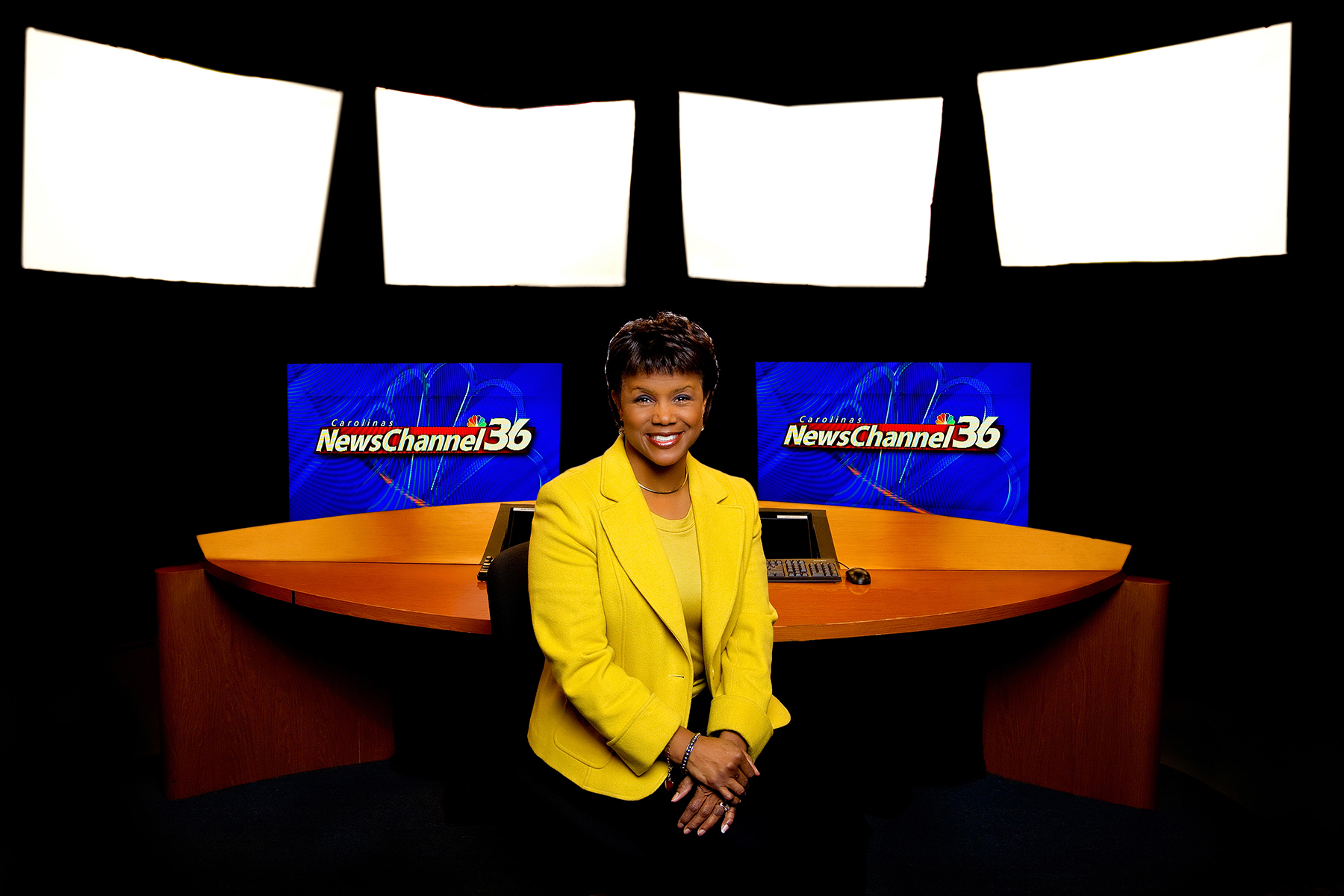 Corporate Portrait Photography  of WCNC-TV anchor Sonja Gantt.Charlotte Photographer -PatrickSchneiderPhoto.com